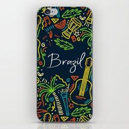 Abstract Brazil Art iPhone Skin