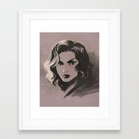 peggy carter Framed Art Prints featuring Peggy by saehral