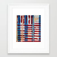coasters Framed Art Prints featuring Popsicles and Roller Coasters by Lauren Packard