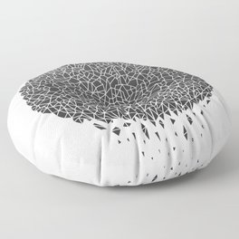 Black Sphere Floor Pillow