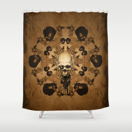 Awesome skull Shower Curtain
