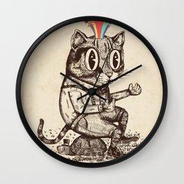 Strange Cat Wall Clock