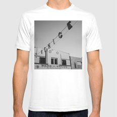 Venice Beach California IV MEDIUM White Mens Fitted Tee