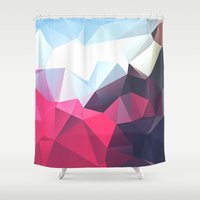 wwe Shower Curtains featuring Polygonal by eARTh