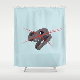 christians against dinosaurs Shower Curtain