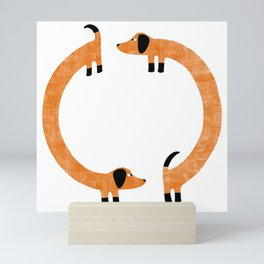 Sausage Dogs Mini Art Print