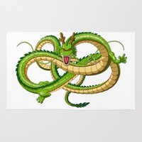 dragon ball Area & Throw Rugs featuring Shenron Dragon ball by OverClocked