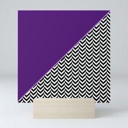 Chevron and Purple Print Mini Art Print