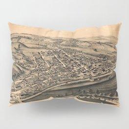 Aerial View of Mohawk, New York (1893) Pillow Sham