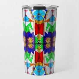 blue pattern Travel Mug