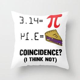 Pi Day Math cake pun funny gift Throw Pillow