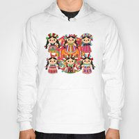 mexican Hoodies featuring Mexican Dolls by Alapapaju