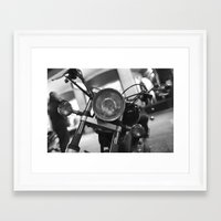 motorcycle Framed Art Prints featuring Motorcycle by James Tamim