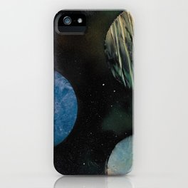 Loads of Planets - Spacescape - Spray Paint Art iPhone Case