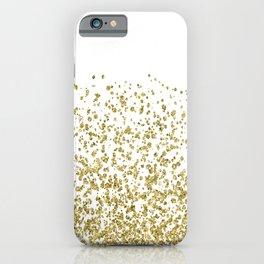 Gilded confetti iPhone Case