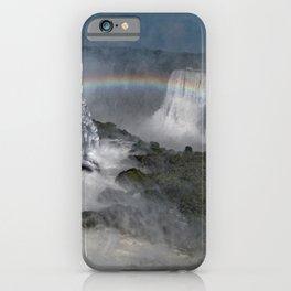 Iguazu Iguassu Waterfall Aerial Landscape Rainbow Scenery, Brazil Argentina iPhone Case