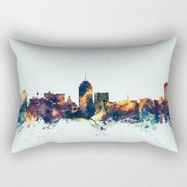 Fresno California Skyline Rectangular Pillow
