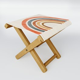 Abstract Rainbow 88 Folding Stool