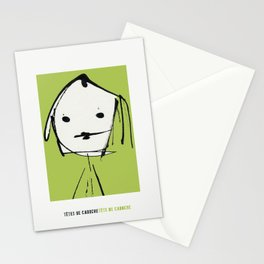 « têtes de caboche .3 »   Stationery Cards