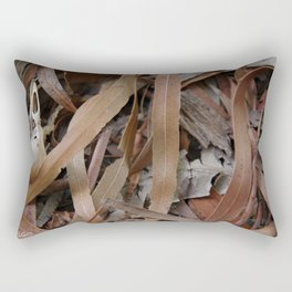 Bird Skull in Leaf Litter Rectangular Pillow