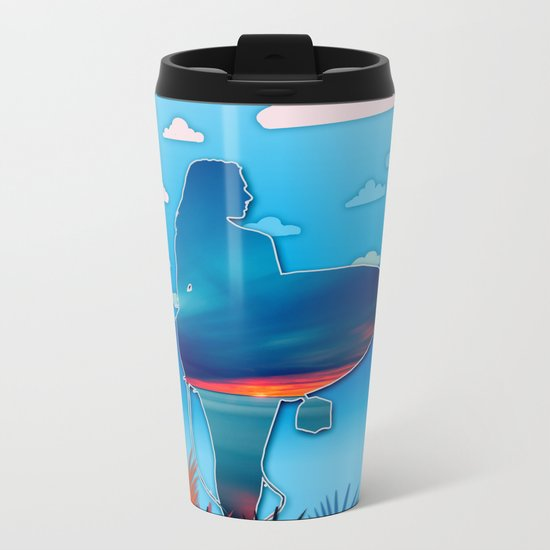 time to surf 3 Metal Travel Mug