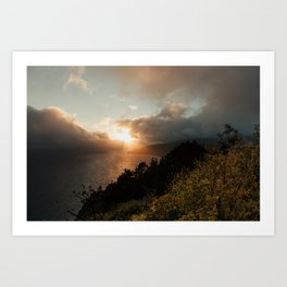 Pacific Sunset from Muir Beach Overlook Art Print
