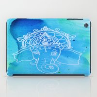 hindu iPad Cases featuring Untitled (Elephant) by Aries Art