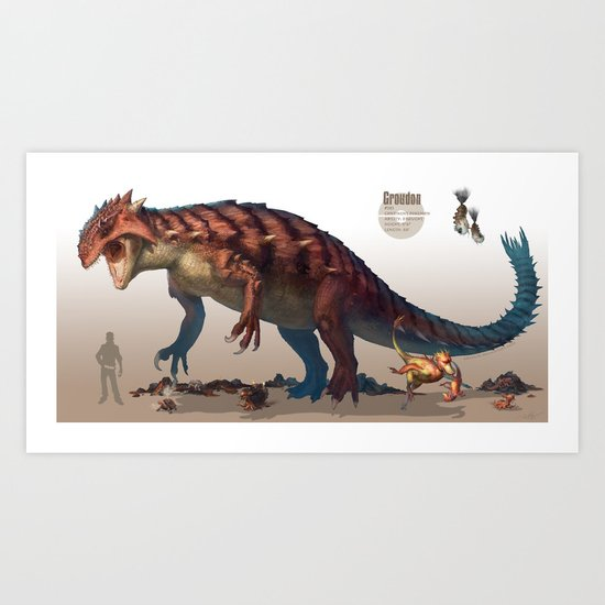 Pokemon-Groudon Art Print