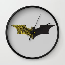 Laced Bat-man with heart Wall Clock