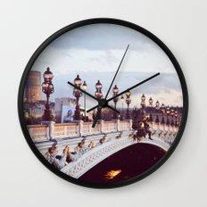 Pont Alexandre III Paris. Wall Clock