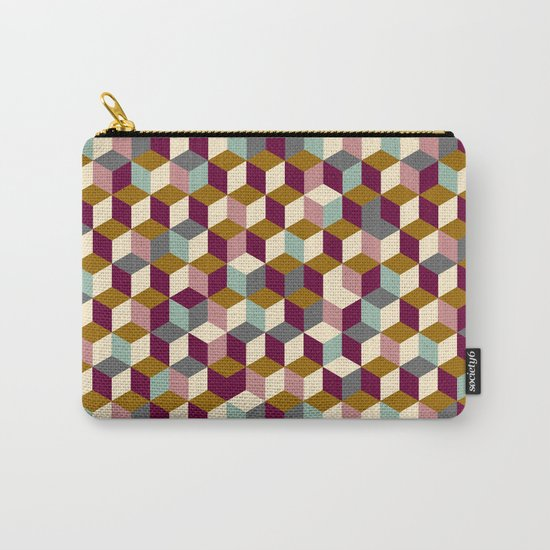 Cubic Pattern Carry-All Pouch
