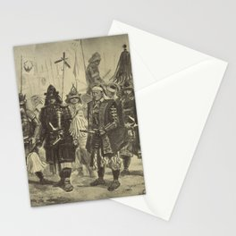 Japanese Warriors Stationery Cards