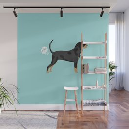 Coonhound funny farting dog breed gifts Wall Mural