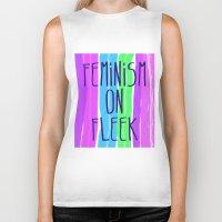 feminism Biker Tanks featuring Feminism on Fleek by RCM Prints