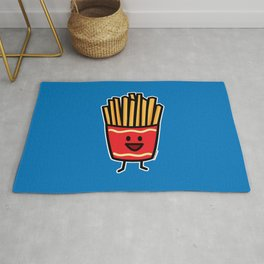 Happy French Fries potato frites fried junk food Rug