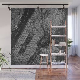 Central Park New York 1947 vintage old map for office decoration Wall Mural