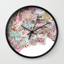 Brest map Wall Clock