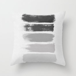 Black & White Stripes Throw Pillow