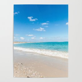 Turquoise Seascape Poster