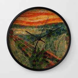 The Avocado Scream After Munch Wall Clock