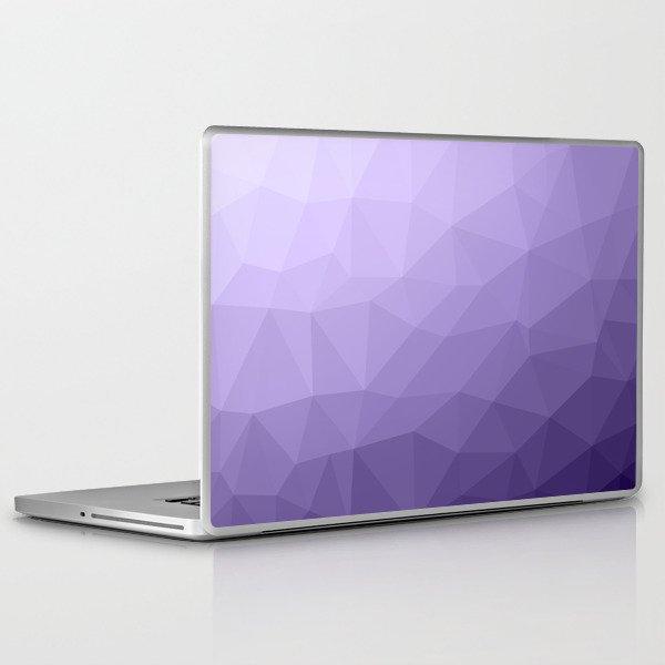 Ultra violet purple geometric mesh Laptop & iPad Skin