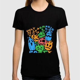 Funny Ugly Pumpkin Party Halloween Night T-shirt
