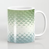 grid Mugs featuring Grid by Silja Rouvinen