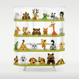 Adorable Zoo animals Shower Curtain