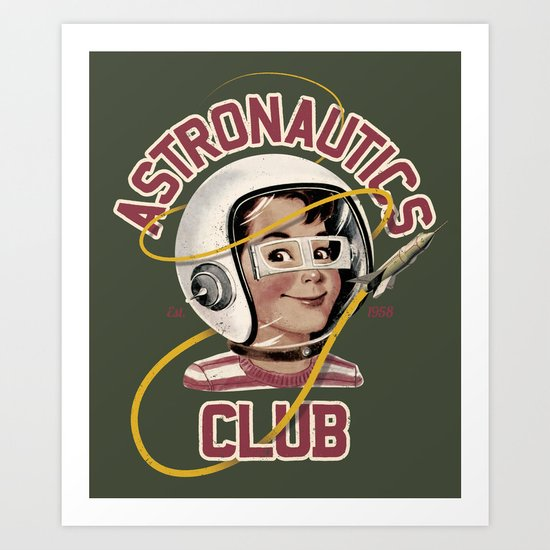 Astro Club (green) Art Print