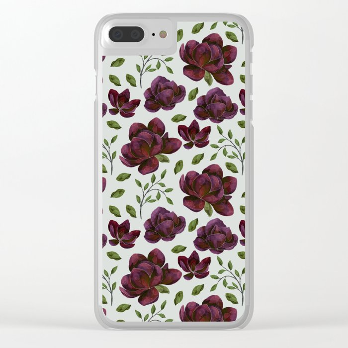 Forest Meadow Rose Clear iPhone Case