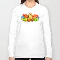buddah Long Sleeve T-shirts featuring Buddah by Adaildo Neto