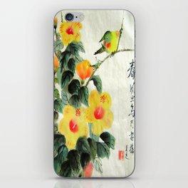 green bird sensations iPhone Skin