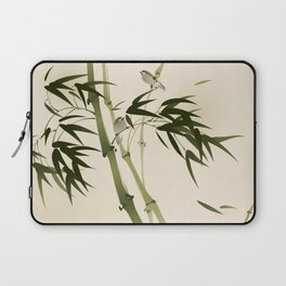 Oriental style painting, bamboo branches Laptop Sleeve