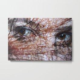 Blooming Eyes Metal Print